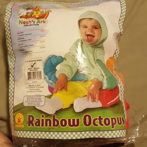NEW NWT Boys or Girls Infant Octopus Halloween Costume 6-12 or 12-18 Months